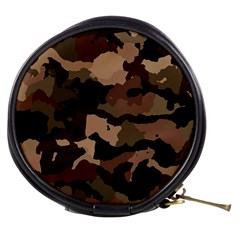 Background For Scrapbooking Or Other Camouflage Patterns Beige And Brown Mini Makeup Bags