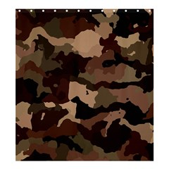 Background For Scrapbooking Or Other Camouflage Patterns Beige And Brown Shower Curtain 66  x 72  (Large)