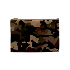 Background For Scrapbooking Or Other Camouflage Patterns Beige And Brown Cosmetic Bag (Medium)