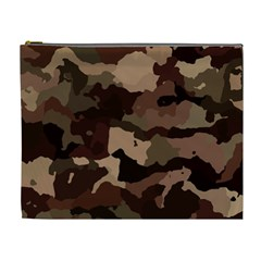 Background For Scrapbooking Or Other Camouflage Patterns Beige And Brown Cosmetic Bag (XL)