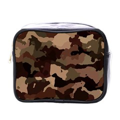 Background For Scrapbooking Or Other Camouflage Patterns Beige And Brown Mini Toiletries Bags