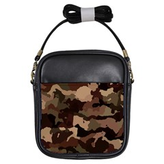 Background For Scrapbooking Or Other Camouflage Patterns Beige And Brown Girls Sling Bags