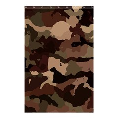 Background For Scrapbooking Or Other Camouflage Patterns Beige And Brown Shower Curtain 48  x 72  (Small)
