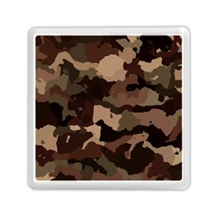 Background For Scrapbooking Or Other Camouflage Patterns Beige And Brown Memory Card Reader (Square)