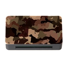 Background For Scrapbooking Or Other Camouflage Patterns Beige And Brown Memory Card Reader with CF