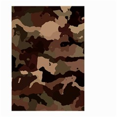 Background For Scrapbooking Or Other Camouflage Patterns Beige And Brown Small Garden Flag (Two Sides)