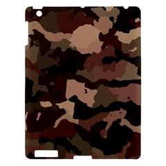 Background For Scrapbooking Or Other Camouflage Patterns Beige And Brown Apple iPad 3/4 Hardshell Case