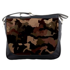 Background For Scrapbooking Or Other Camouflage Patterns Beige And Brown Messenger Bags