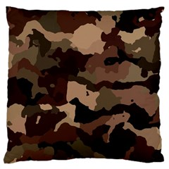 Background For Scrapbooking Or Other Camouflage Patterns Beige And Brown Large Cushion Case (one Side)