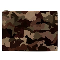 Background For Scrapbooking Or Other Camouflage Patterns Beige And Brown Cosmetic Bag (XXL)