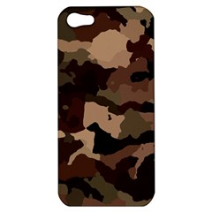 Background For Scrapbooking Or Other Camouflage Patterns Beige And Brown Apple iPhone 5 Hardshell Case