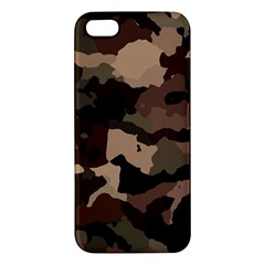 Background For Scrapbooking Or Other Camouflage Patterns Beige And Brown Apple iPhone 5 Premium Hardshell Case