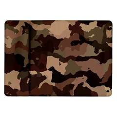 Background For Scrapbooking Or Other Camouflage Patterns Beige And Brown Samsung Galaxy Tab 10.1  P7500 Flip Case