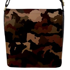 Background For Scrapbooking Or Other Camouflage Patterns Beige And Brown Flap Messenger Bag (S)