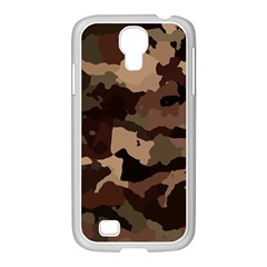 Background For Scrapbooking Or Other Camouflage Patterns Beige And Brown Samsung GALAXY S4 I9500/ I9505 Case (White)