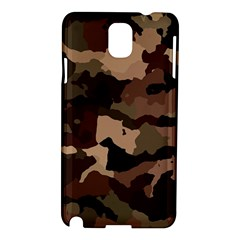 Background For Scrapbooking Or Other Camouflage Patterns Beige And Brown Samsung Galaxy Note 3 N9005 Hardshell Case