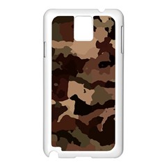 Background For Scrapbooking Or Other Camouflage Patterns Beige And Brown Samsung Galaxy Note 3 N9005 Case (White)