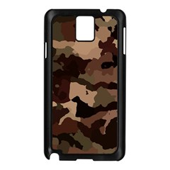 Background For Scrapbooking Or Other Camouflage Patterns Beige And Brown Samsung Galaxy Note 3 N9005 Case (Black)