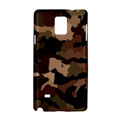 Background For Scrapbooking Or Other Camouflage Patterns Beige And Brown Samsung Galaxy Note 4 Hardshell Case