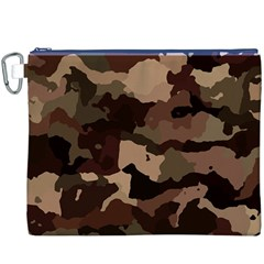Background For Scrapbooking Or Other Camouflage Patterns Beige And Brown Canvas Cosmetic Bag (XXXL)