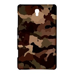 Background For Scrapbooking Or Other Camouflage Patterns Beige And Brown Samsung Galaxy Tab S (8 4 ) Hardshell Case