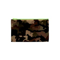 Background For Scrapbooking Or Other Camouflage Patterns Beige And Brown Cosmetic Bag (XS)