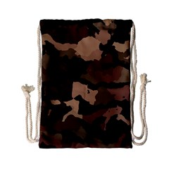 Background For Scrapbooking Or Other Camouflage Patterns Beige And Brown Drawstring Bag (Small)