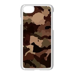 Background For Scrapbooking Or Other Camouflage Patterns Beige And Brown Apple Iphone 7 Seamless Case (white)