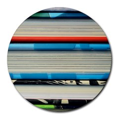 Background Book Books Children Round Mousepads