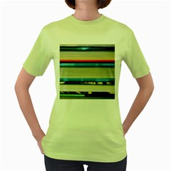 Background Book Books Children Women s Green T-Shirt