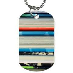 Background Book Books Children Dog Tag (One Side)
