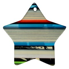 Background Book Books Children Star Ornament (Two Sides)
