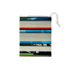 Background Book Books Children Drawstring Pouches (Small)