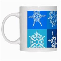 Background Blue Decoration White Mugs