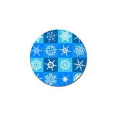 Background Blue Decoration Golf Ball Marker (10 pack)