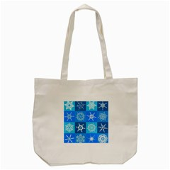 Background Blue Decoration Tote Bag (Cream)