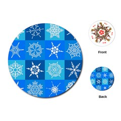 Background Blue Decoration Playing Cards (Round)