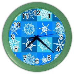Background Blue Decoration Color Wall Clocks