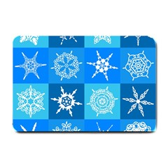 Background Blue Decoration Small Doormat