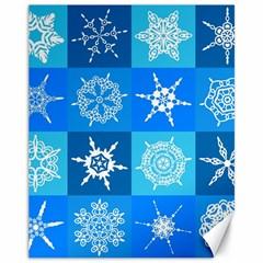 Background Blue Decoration Canvas 11  X 14