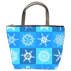 Background Blue Decoration Bucket Bags