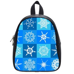 Background Blue Decoration School Bags (Small)