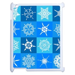 Background Blue Decoration Apple iPad 2 Case (White)