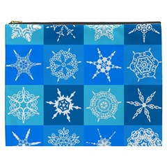 Background Blue Decoration Cosmetic Bag (XXXL)