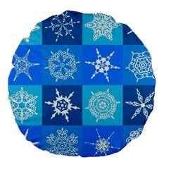 Background Blue Decoration Large 18  Premium Round Cushions