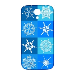 Background Blue Decoration Samsung Galaxy S4 I9500/I9505  Hardshell Back Case