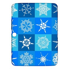 Background Blue Decoration Samsung Galaxy Tab 3 (10.1 ) P5200 Hardshell Case