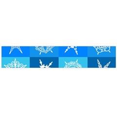 Background Blue Decoration Flano Scarf (Large)