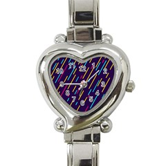 Background Lines Forms Heart Italian Charm Watch