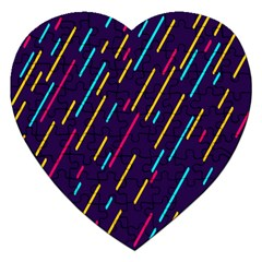 Background Lines Forms Jigsaw Puzzle (Heart)